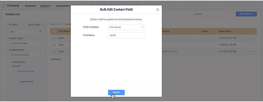 bulk edits save