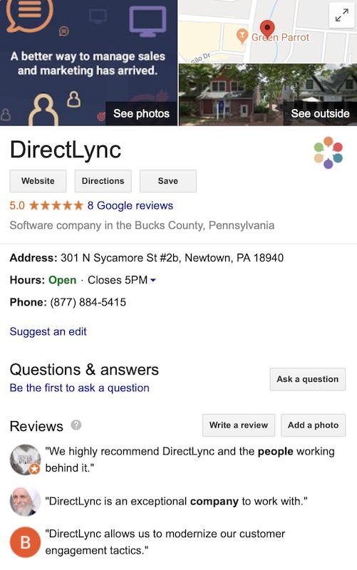 DirectLync Google My Business