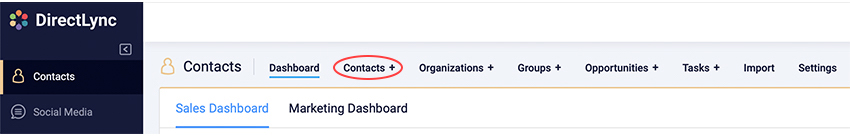 Navigate To Contacts